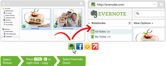 click.to Evernote - Insert Images