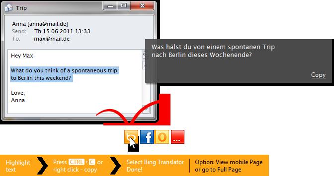 click to - Bing Translate