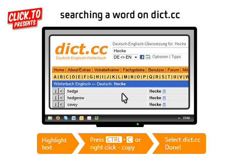click.to dict.cc